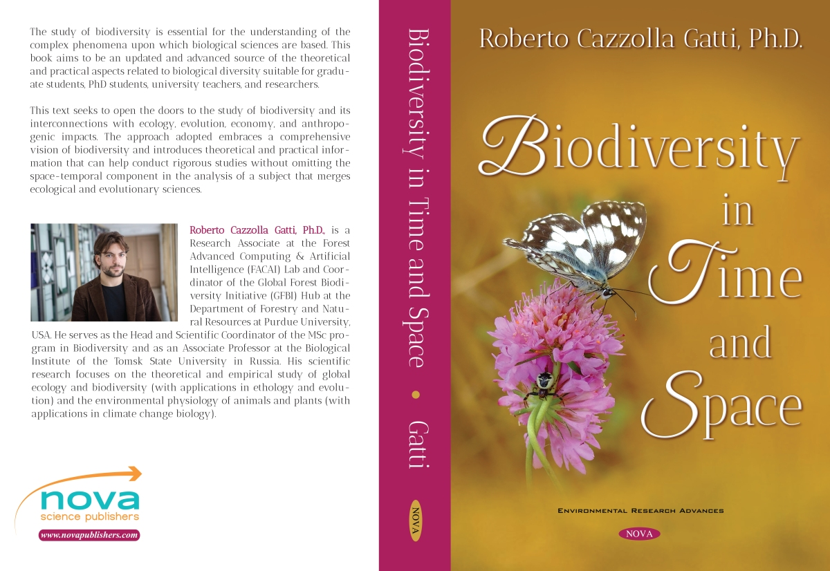 A new academic book in publication: Biodiversity in Time and Space